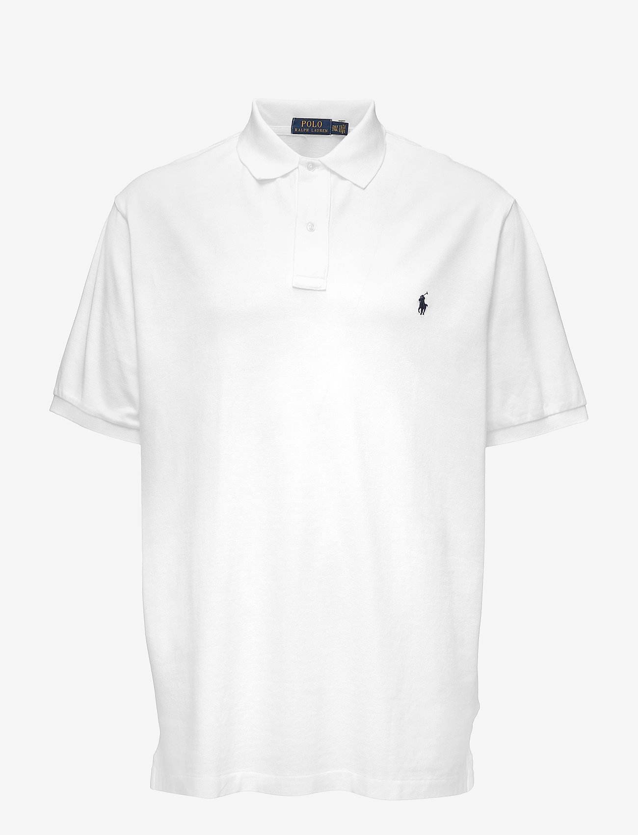 Polo Ralph Lauren Big & Tall - Classic Fit Mesh Polo Shirt - kortærmede - white - 0