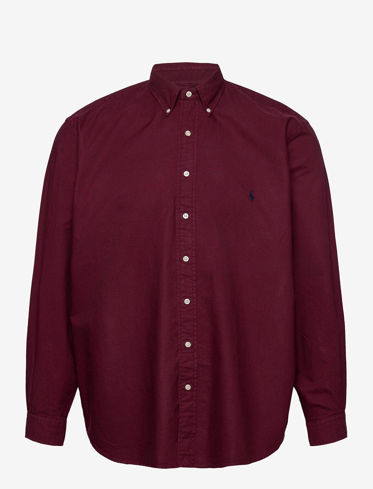 Polo Ralph Lauren Big & Tall - Garment-Dyed Oxford Shirt - casual shirts - classic wine - 0
