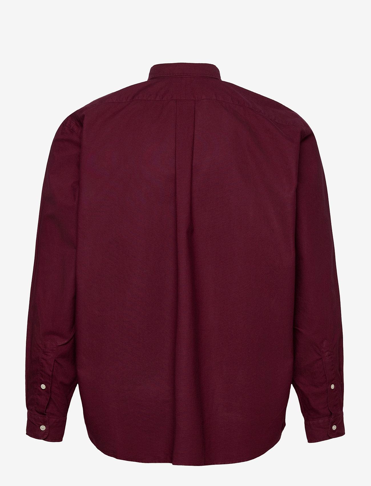 Polo Ralph Lauren Big & Tall - Garment-Dyed Oxford Shirt - casual shirts - classic wine - 1