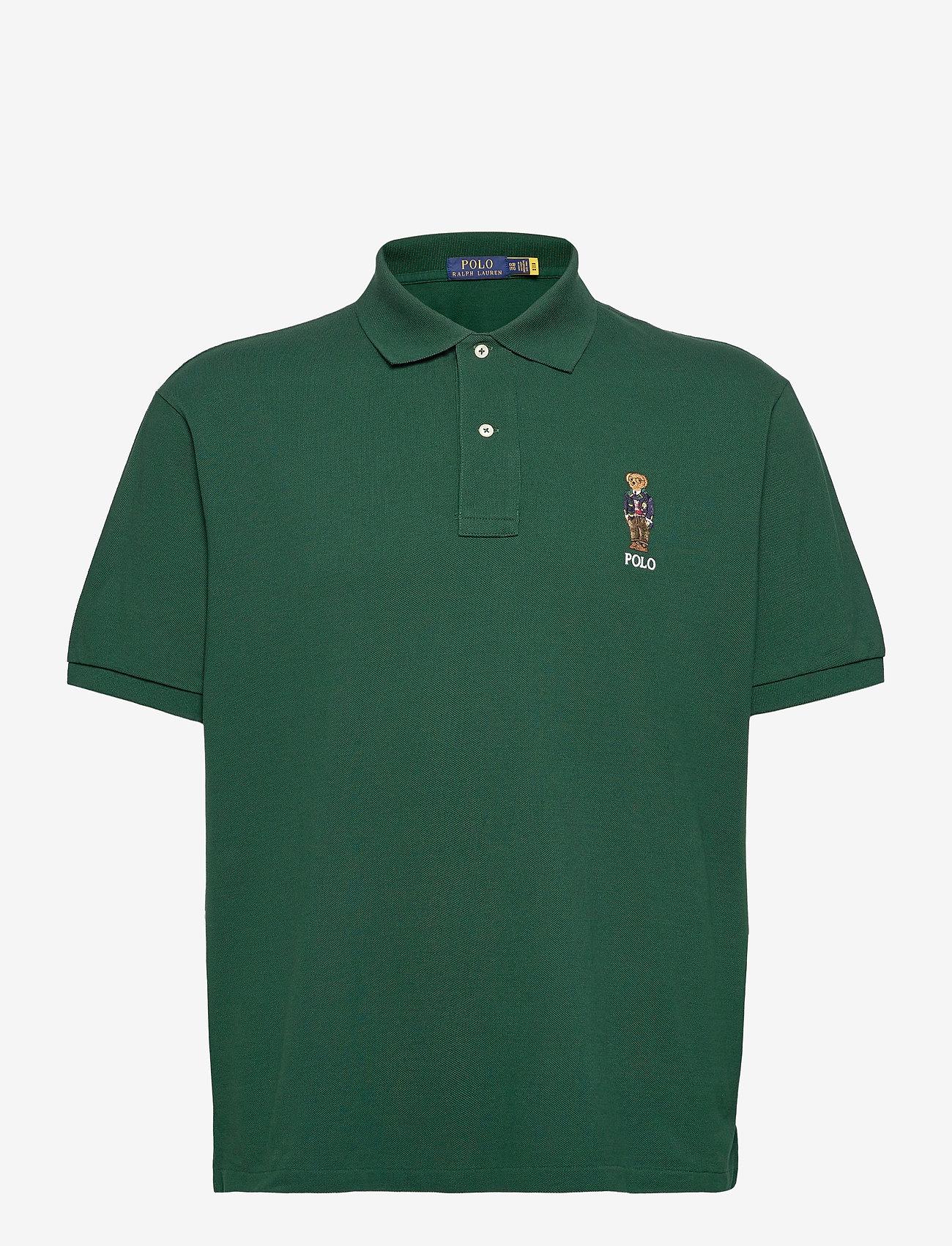 Polo Ralph Lauren Big & Tall - Anorak Bear Mesh Polo Shirt - kortærmede - college green - 1