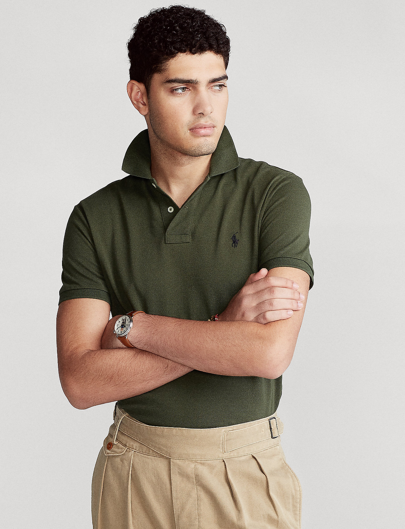Polo Ralph Lauren Big & Tall - Classic Fit Mesh Polo Shirt - kortærmede - company olive/c97 - 0