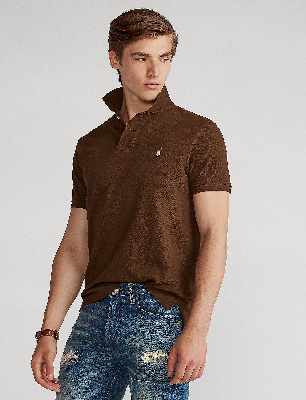 Polo Ralph Lauren Big & Tall - Classic Fit Mesh Polo Shirt - cooper brown/c831 - 0
