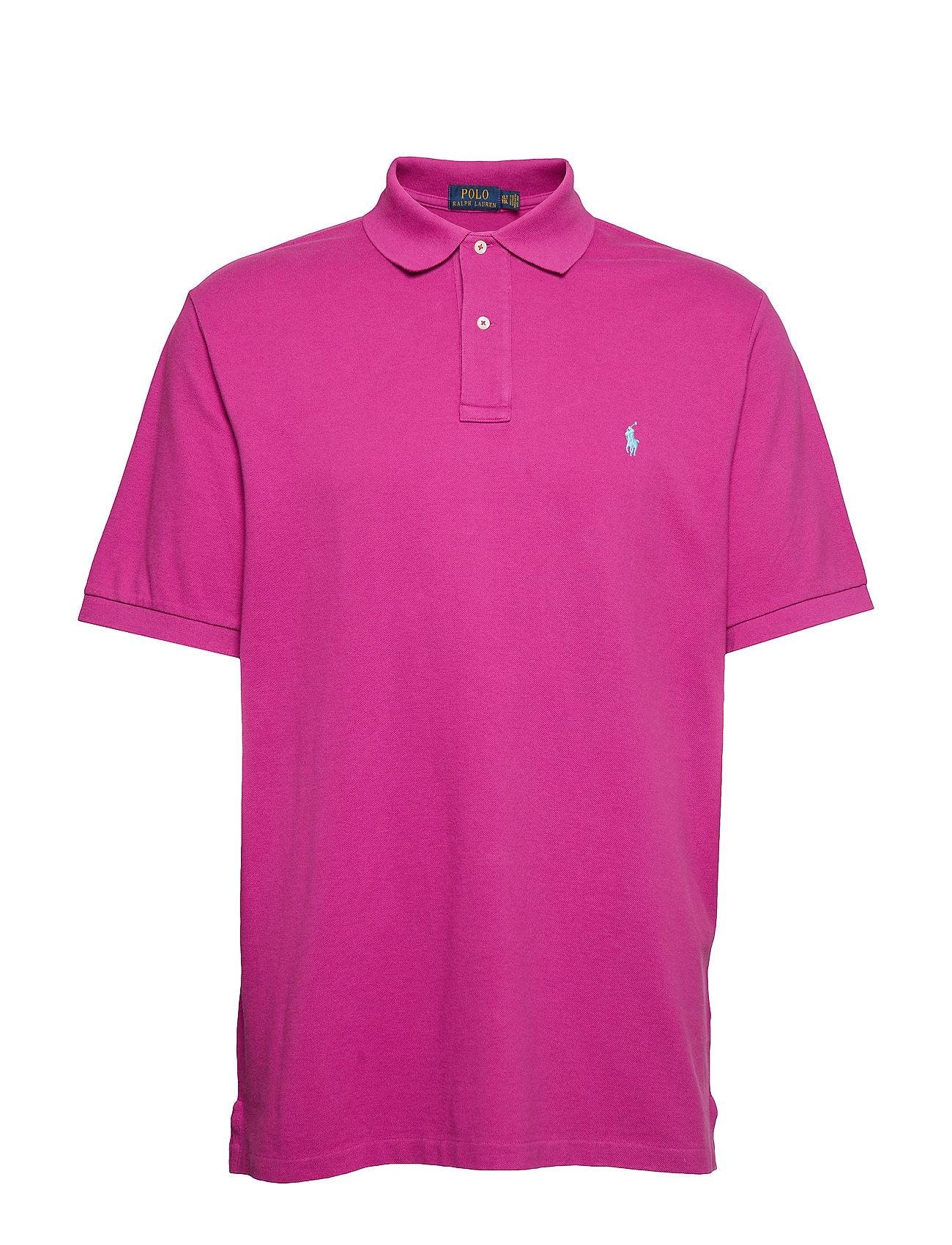 Polo Ralph Lauren Big & Tall Classic Fit Mesh Polo Shirt - ROYAL MAGENTA