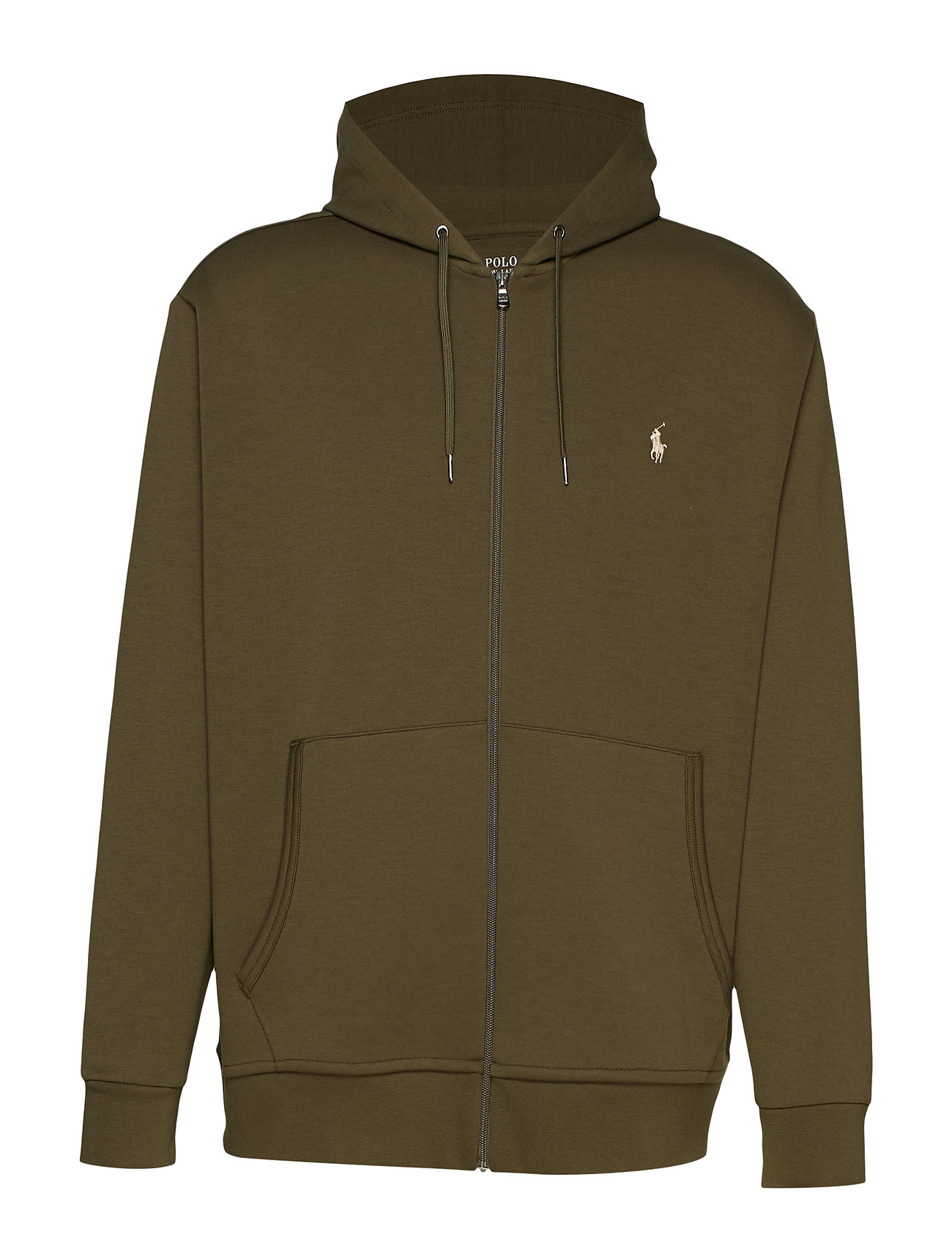 Polo Ralph Lauren Big & Tall Double-Knit Full-Zip Hoodie - COMPANY OLIVE