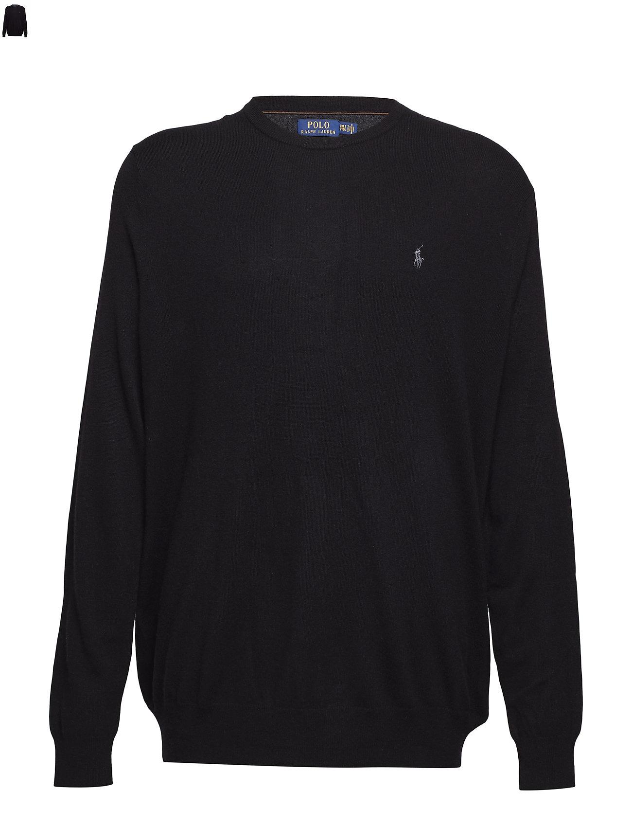 15f4b08d3a3 Merino Wool Crewneck Sweater (Polo Black) (£81) - Polo Ralph Lauren ...
