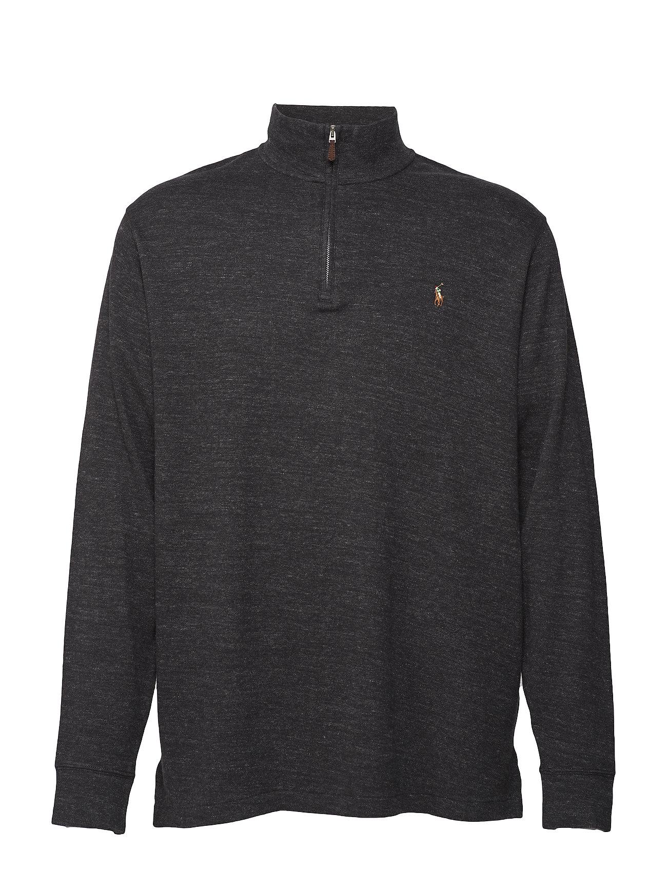 71ede60f5 Estate Rib Half-zip Pullover (Black Marl Heathe) (£65.45) - Polo ...