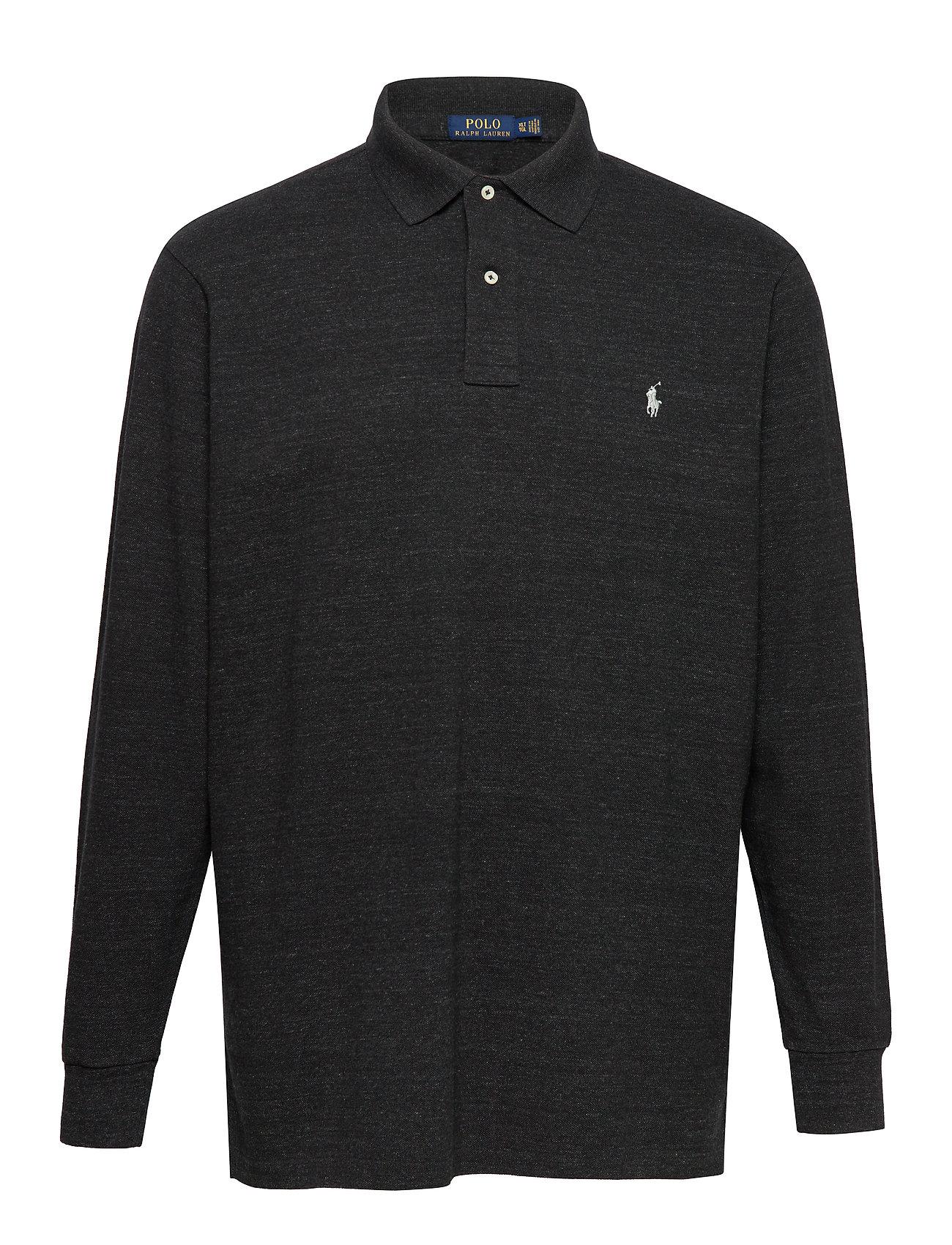 Polo Ralph Lauren Big & Tall Classic Fit Long-Sleeve Polo - BLACK MARL HEATHE