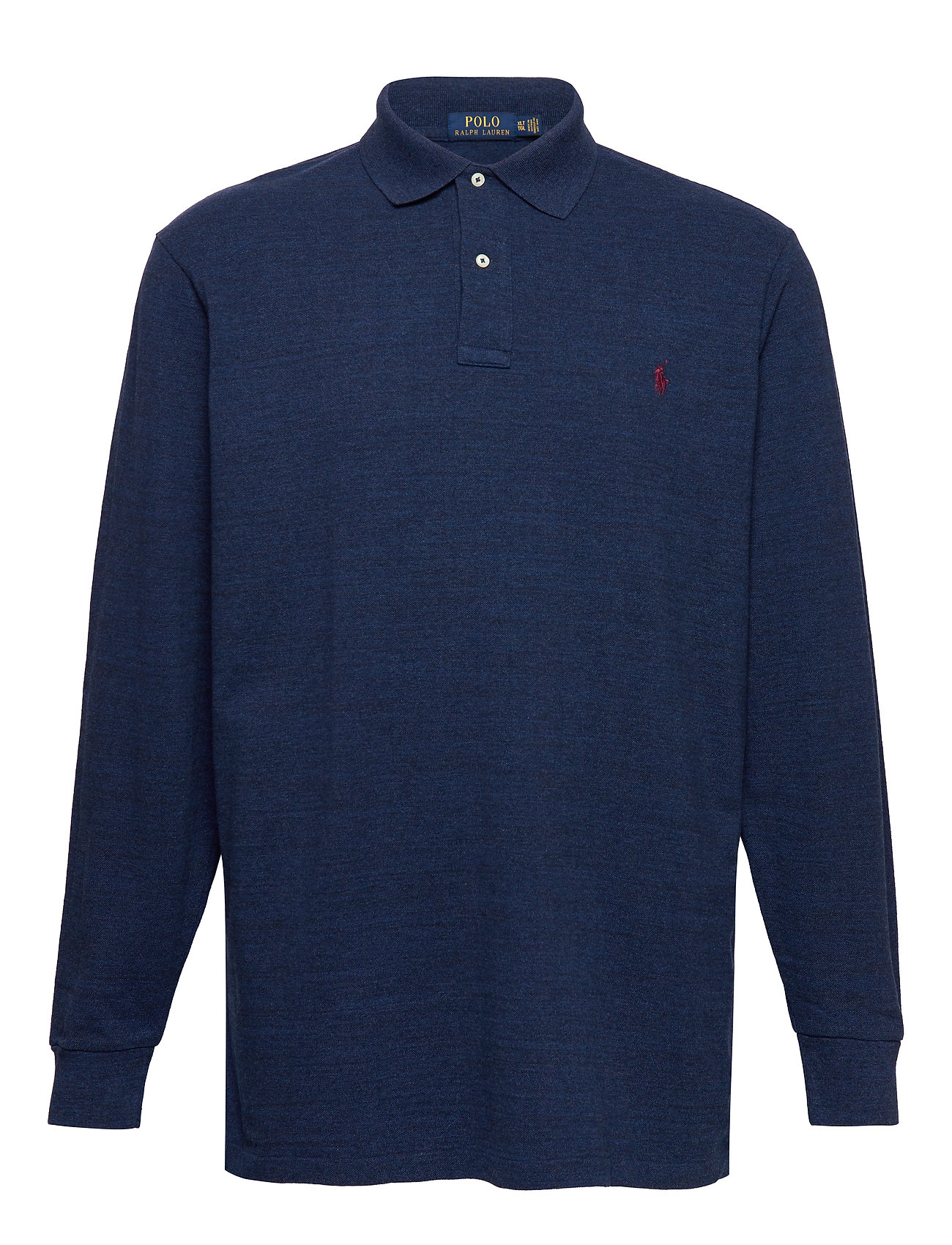 Polo Ralph Lauren Big & Tall Classic Fit Long-Sleeve Polo - MONROE BLUE HEATH