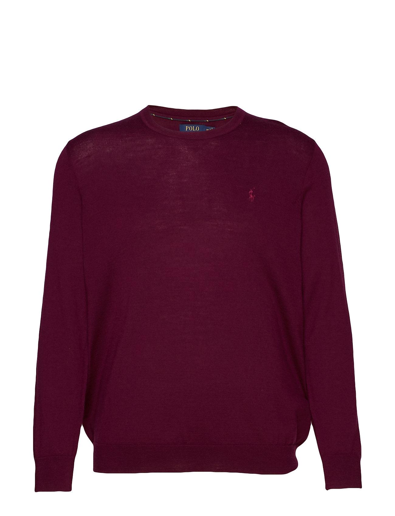 Polo Ralph Lauren Big & Tall Washable Merino Wool Sweater - CLASSIC BURGUNDY