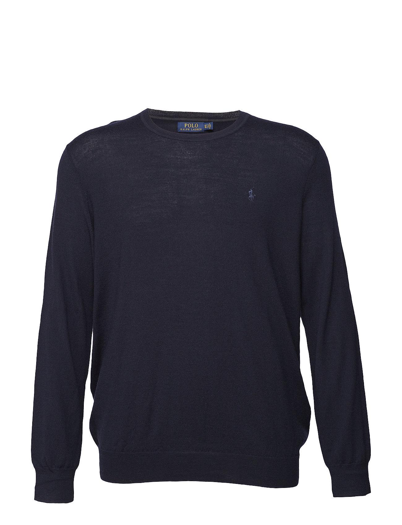 Polo Ralph Lauren Big & Tall Washable Merino Wool Sweater - HUNTER NAVY