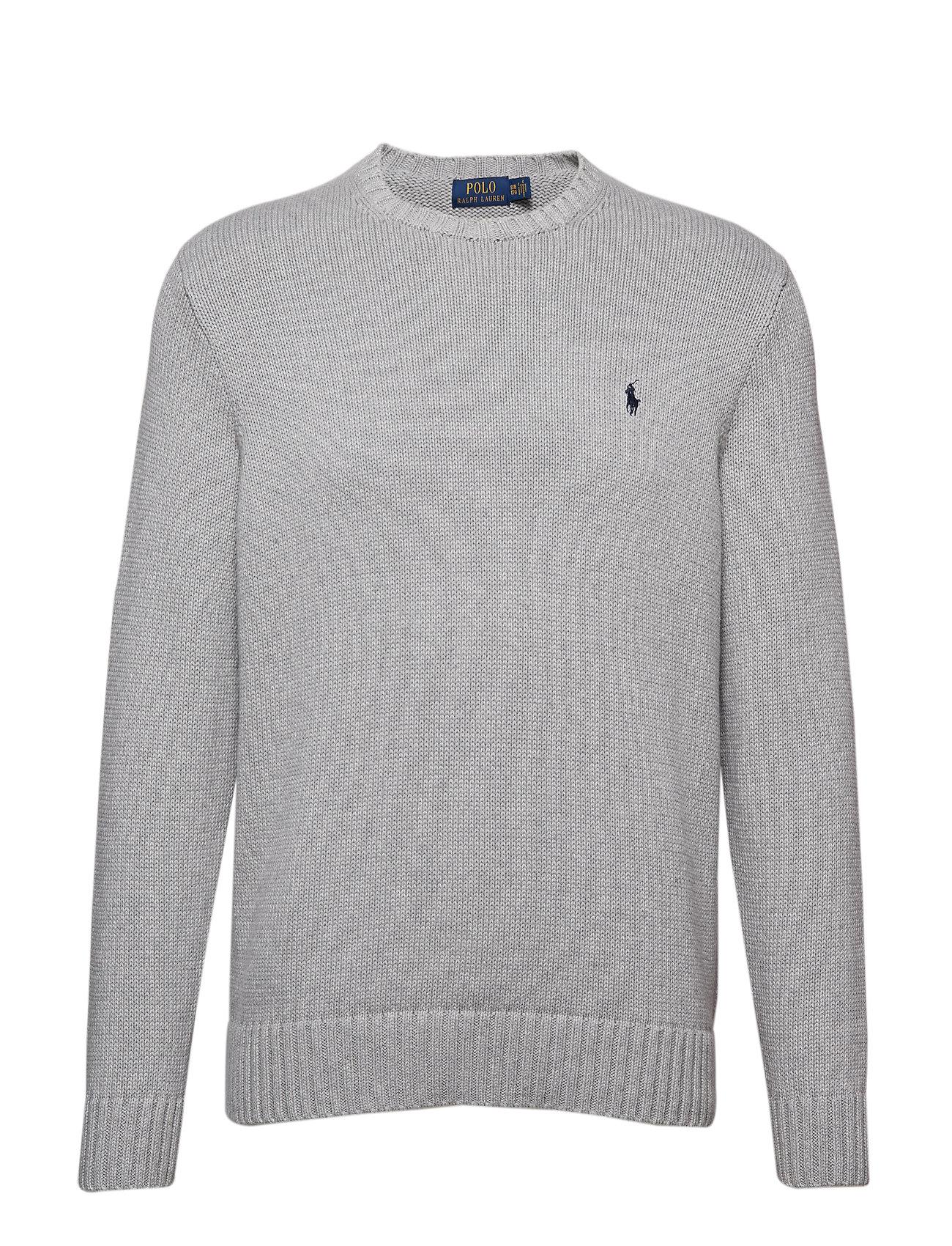 Polo Ralph Lauren Big & Tall Cotton Crewneck Sweater - ANDOVER GREY HEAT