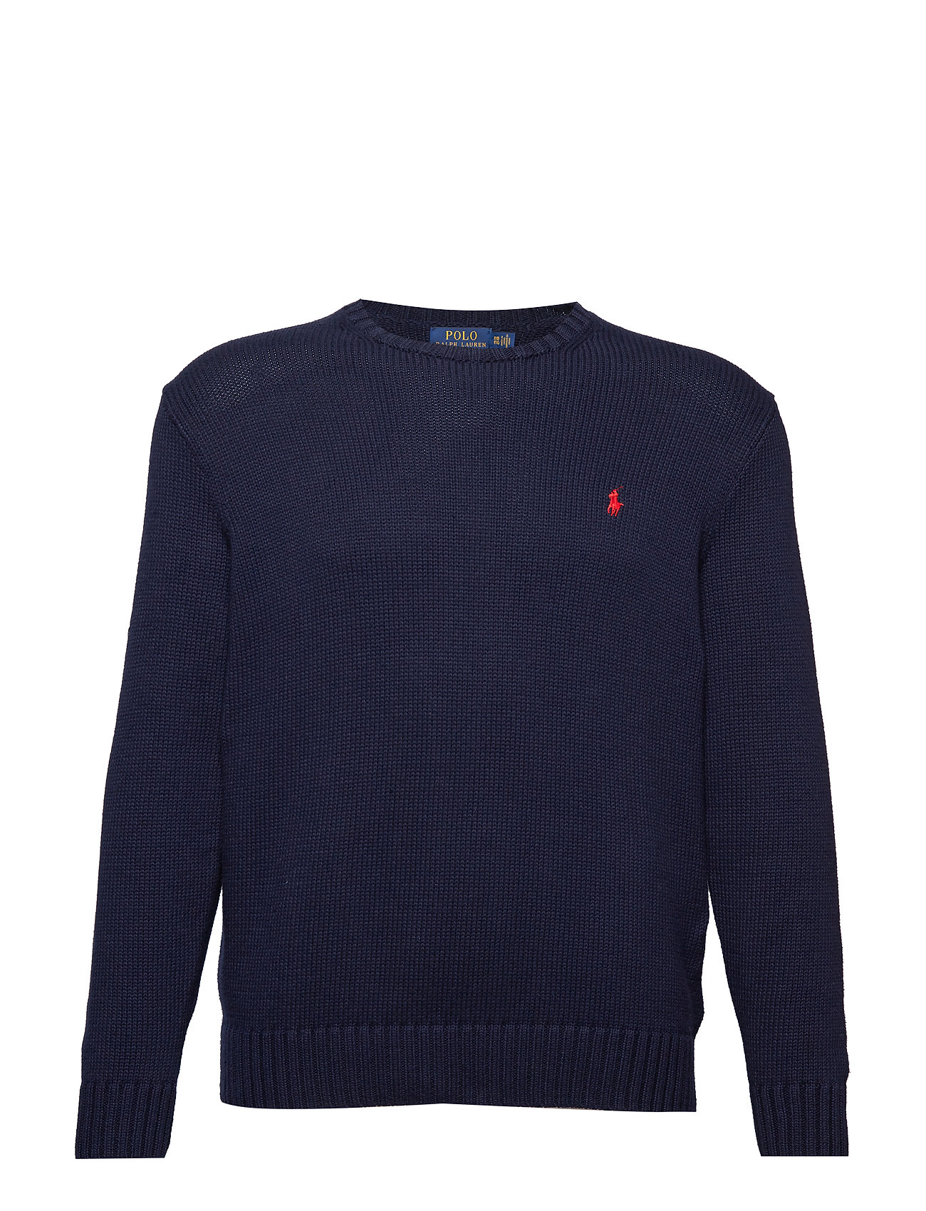 Polo Ralph Lauren Big & Tall Cotton Crewneck Sweater - HUNTER NAVY