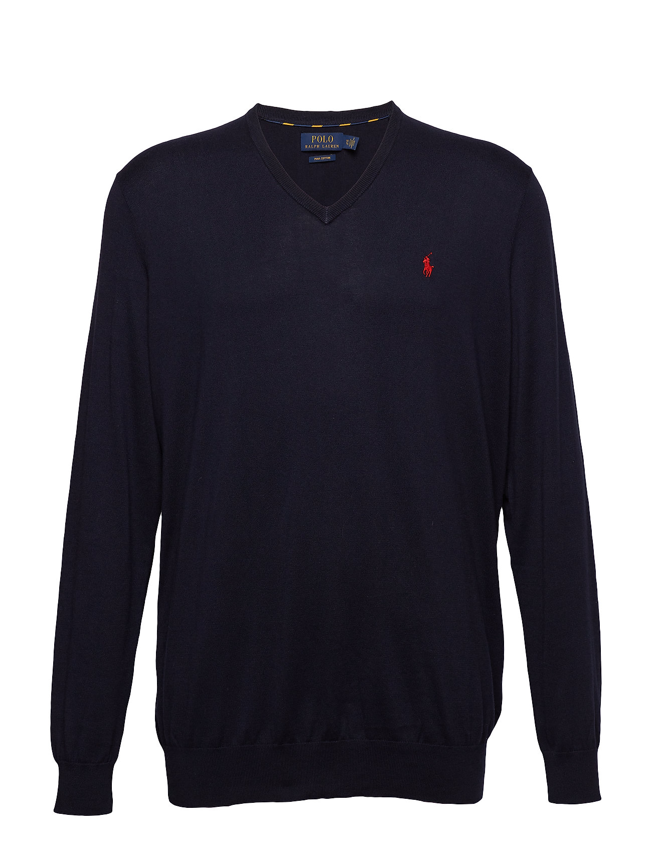 Polo Ralph Lauren Big & Tall Cotton V-Neck Sweater - HUNTER NAVY