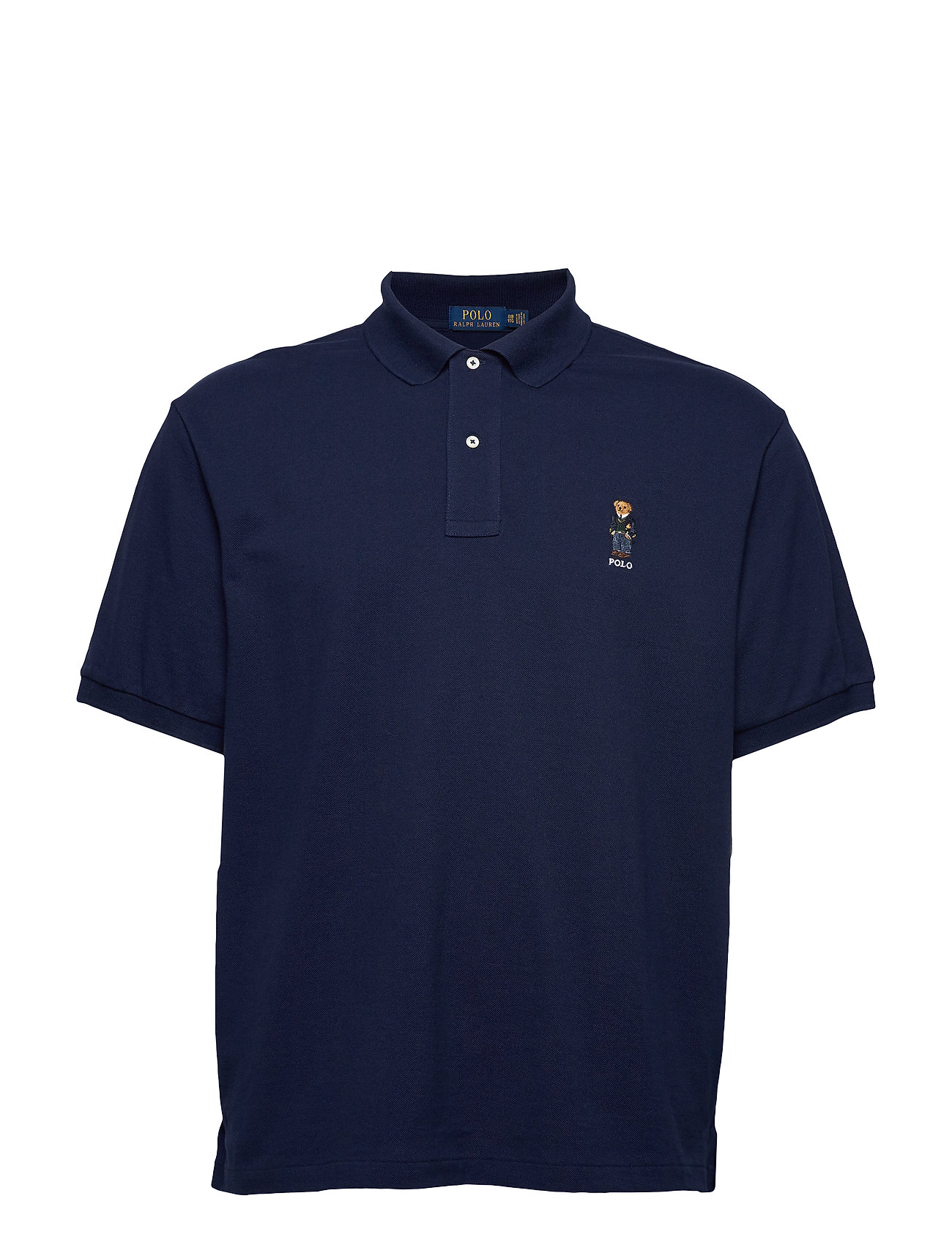Polo Ralph Lauren Big & Tall Classic Fit Bear Mesh Polo - CRUISE NAVY