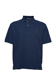 Classic Fit Mesh Polo Shirt - MONROE BLUE HEATH