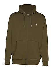 Double-Knit Full-Zip Hoodie - COMPANY OLIVE
