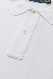 Polo Ralph Lauren Big & Tall - Classic Fit Mesh Polo Shirt - kortærmede - white - 2