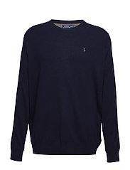 Merino Wool Crewneck Sweater - HUNTER NAVY
