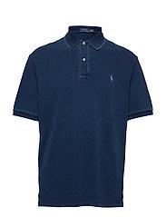 Classic Fit Mesh Polo Shirt - DARK INDIGO