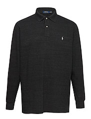 Classic Fit Long-Sleeve Polo - BLACK MARL HEATHE