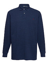 Classic Fit Long-Sleeve Polo - MONROE BLUE HEATH
