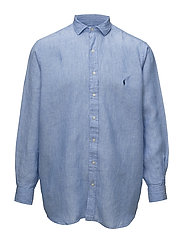 Classic Fit Linen Sport Shirt - 2589F BLUE/WHITE