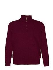 Merino Wool Half-Zip Sweater - CLASSIC BURGUNDY