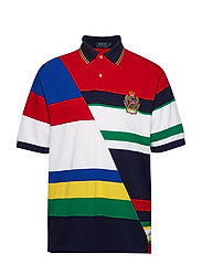 Classic Fit Striped Mesh Polo - CRUISE NAVY MULTI