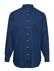 c8159a7e9025f8 Classic Fit Linen Shirt - HOLIDAY NAVY