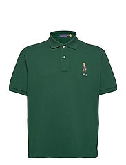 Anorak Bear Mesh Polo Shirt - COLLEGE GREEN