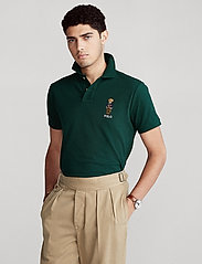 Polo Ralph Lauren Big & Tall - Anorak Bear Mesh Polo Shirt - kortærmede - college green - 0