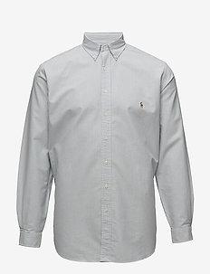 Classic Fit Cotton Sport Shirt - BLUE/WHITE STRI
