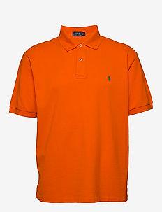 Classic Fit Mesh Polo Shirt - krótki rękaw - bright signal ora