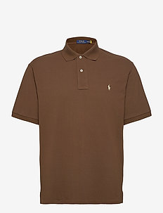 Classic Fit Mesh Polo Shirt - cooper brown/c831