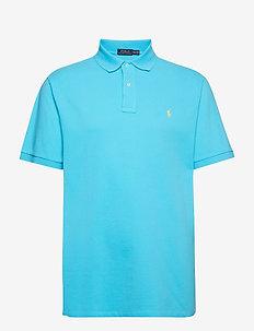 Classic Fit Mesh Polo Shirt - LIQUID BLUE