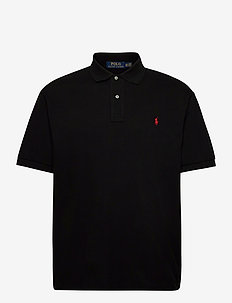 Classic Fit Mesh Polo Shirt - short-sleeved polos - polo black/c3870