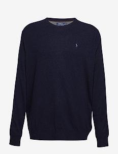 Merino Wool Crewneck Sweater - basisstrikkeplagg - hunter navy