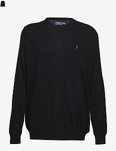Merino Wool Crewneck Sweater - POLO BLACK