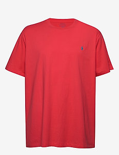 Classic Fit Crewneck T-Shirt - RACING RED/C6934