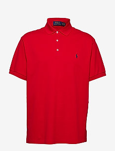 Classic Fit Stretch Mesh Polo - CRUISE RED