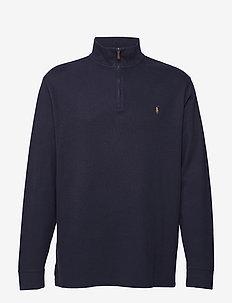 Estate Rib Half-Zip Pullover - RL NAVY