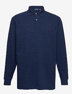 Classic Fit Long-Sleeve Polo - MONROE BLUE HEATH