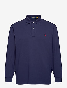 Classic Fit Long-Sleeve Polo - langermede - newport navy