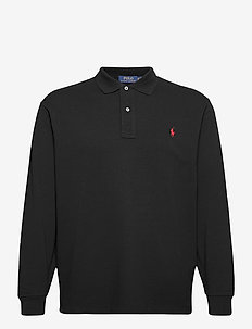 Classic Fit Long-Sleeve Polo - langermede - polo black