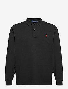 Classic Fit Long-Sleeve Polo - langærmede - polo black