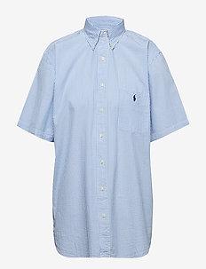 Classic Fit Seersucker Shirt - 2604A BLUE/WHITE