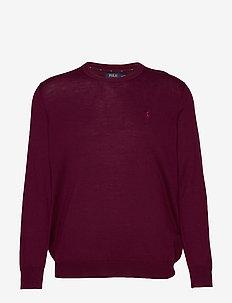 Washable Merino Wool Sweater - CLASSIC BURGUNDY
