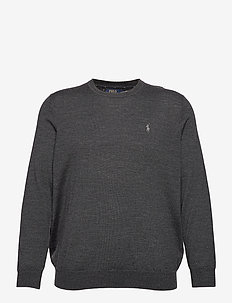 Washable Merino Wool Sweater - rund hals - dark granite heat