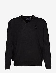 Washable Merino Wool Sweater - POLO BLACK