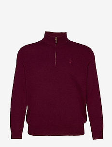 Merino Wool Half-Zip Sweater - CLASSIC BURGUNDY